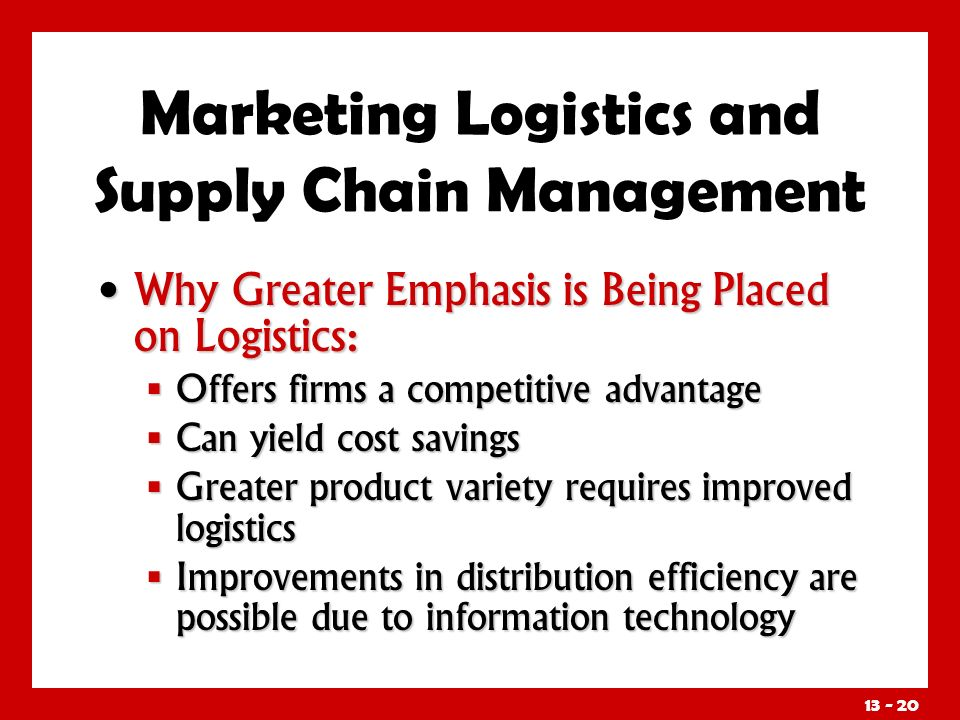 Information Technology & Supply Chain Management