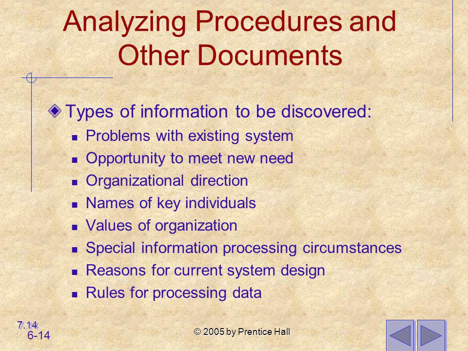 Analyzing Procedures and Other Documents