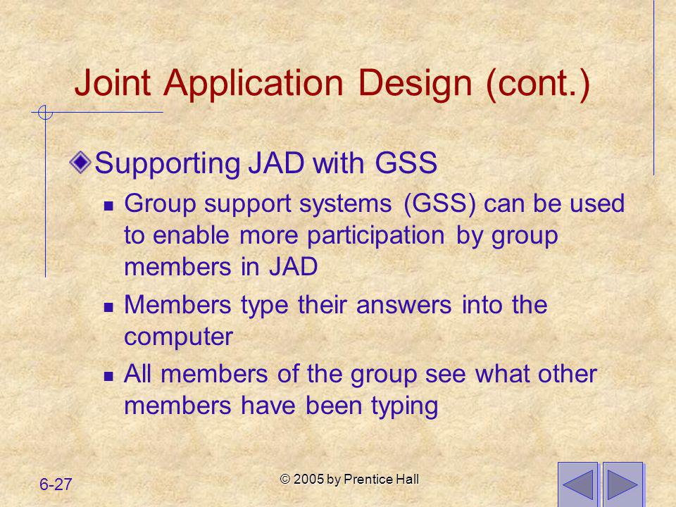 Joint Application Design (cont.)