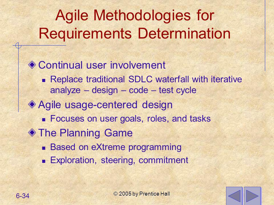 Agile Methodologies for Requirements Determination