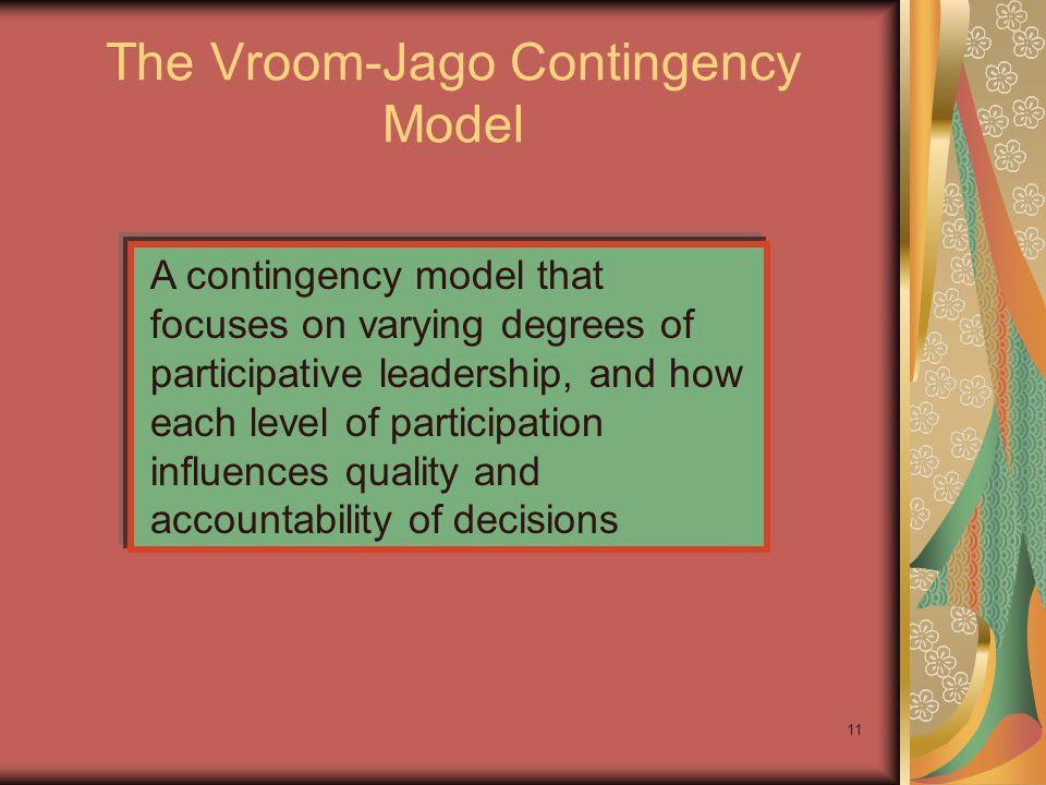 The Vroom-Jago Contingency Model