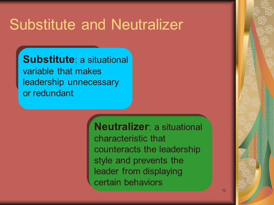 Substitute and Neutralizer