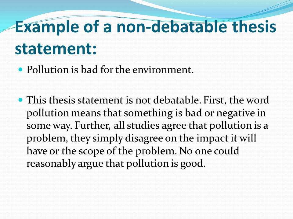 thesis statement about marine pollution For the identification of what is considered as 'intentional vessel-source pollution' in this thesis the  marine pollution  analysis statement.