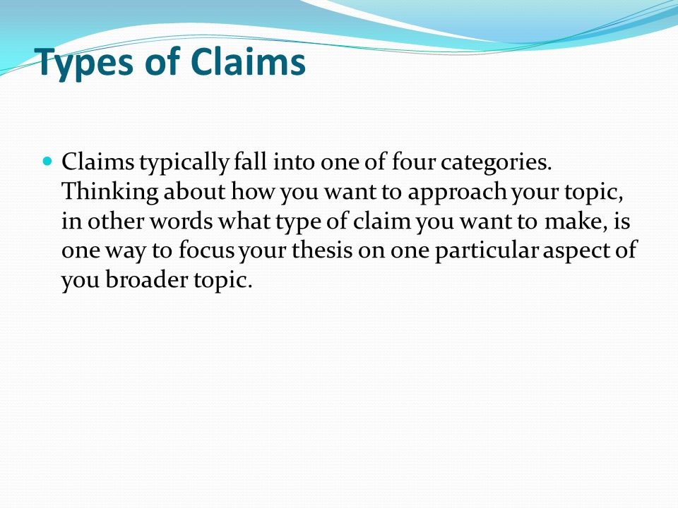 What is a claim of policy essay