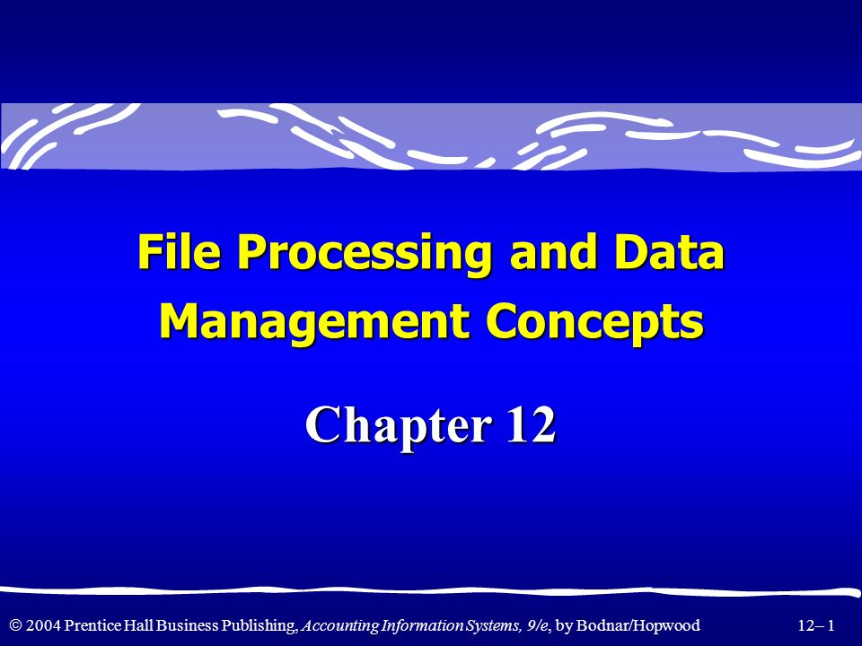 File Processing and Data
