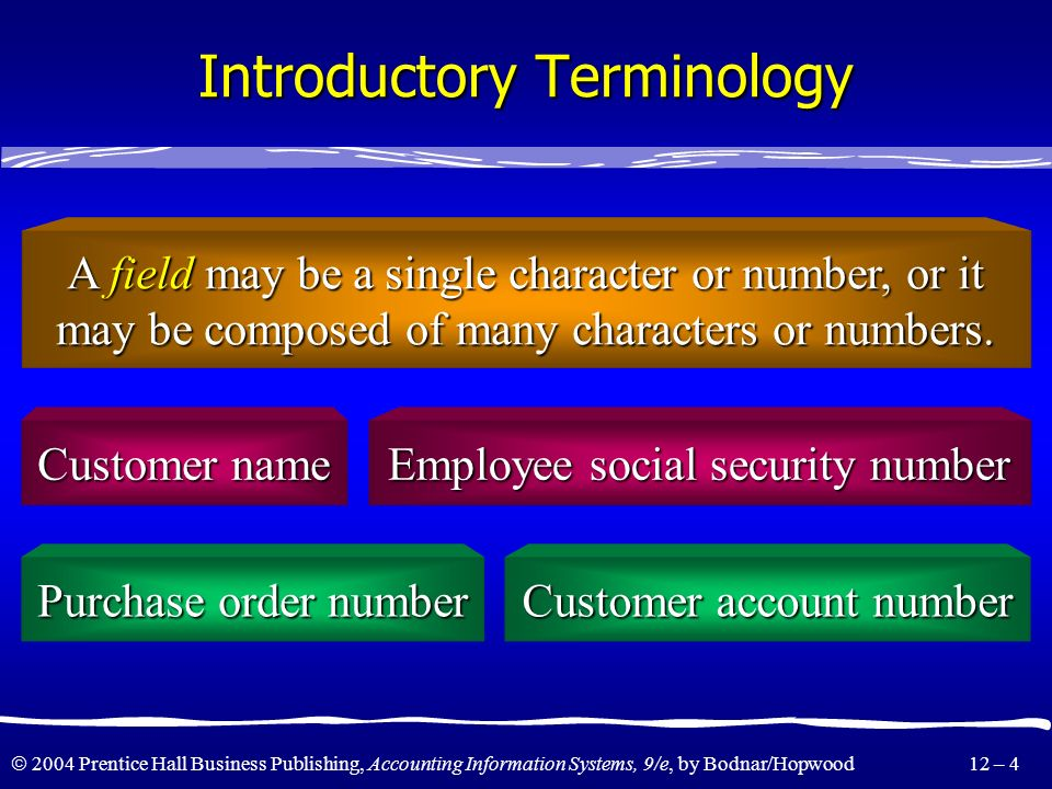 Introductory Terminology