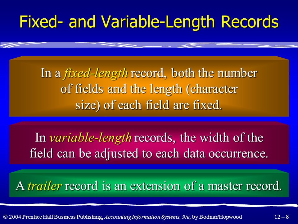 Fixed- and Variable-Length Records