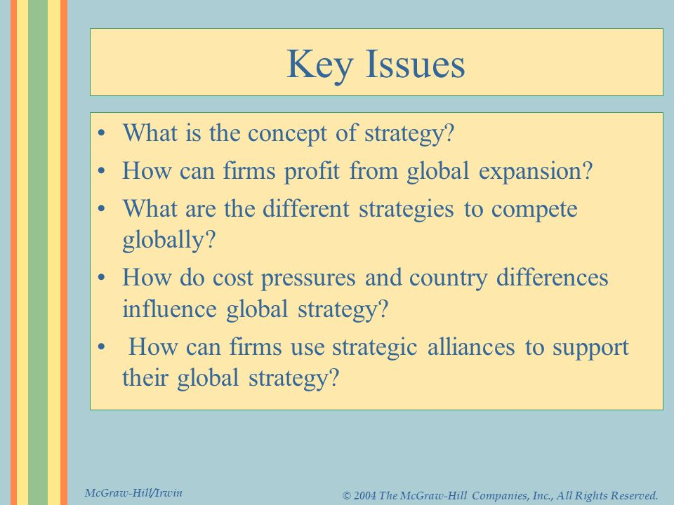 Key Issues What is the concept of strategy