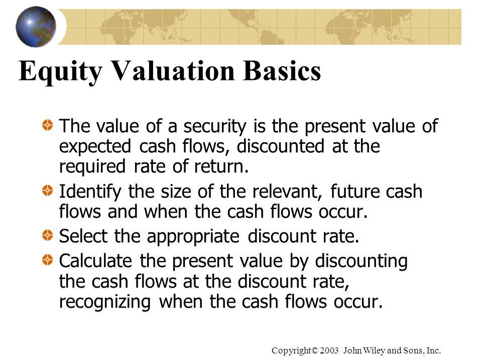 Equity Valuation Basics