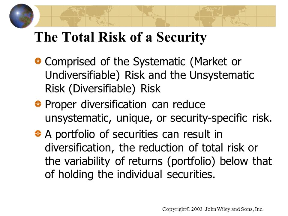 The Total Risk of a Security