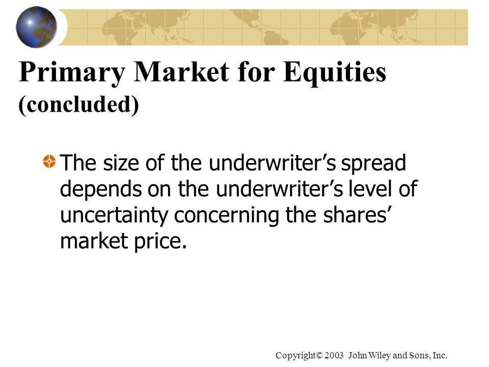 Primary Market for Equities (concluded)