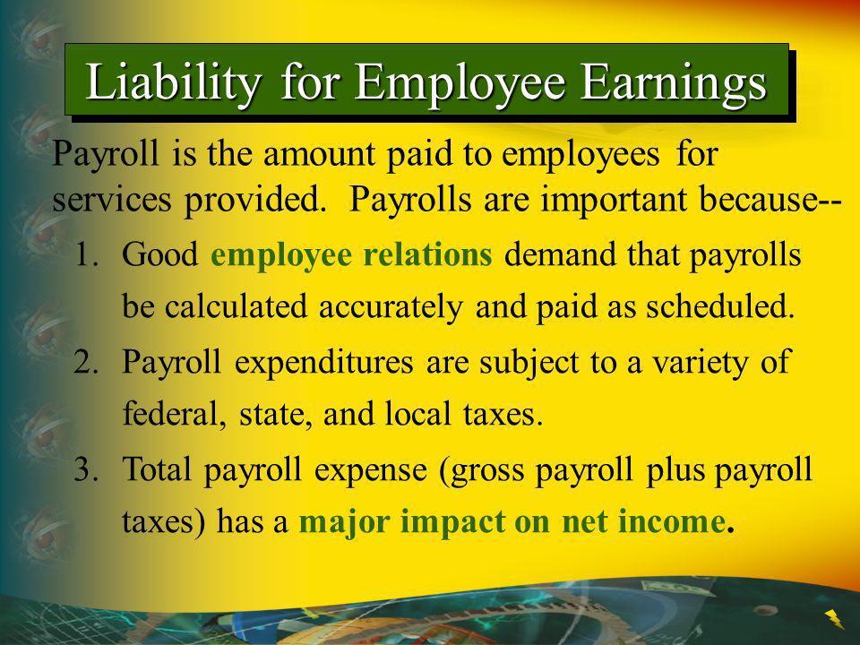 Liability for Employee Earnings
