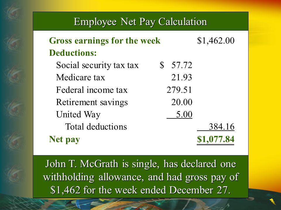 Employee Net Pay Calculation
