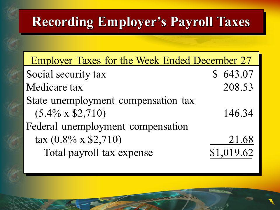 Recording Employer's Payroll Taxes