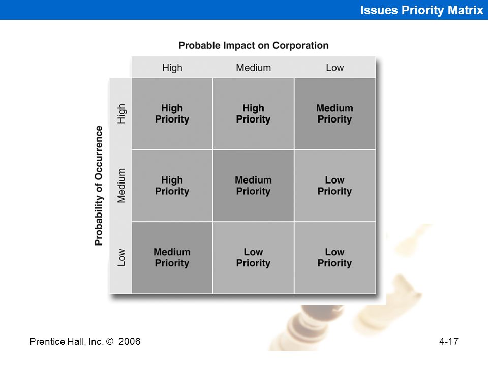 Issues Priority Matrix