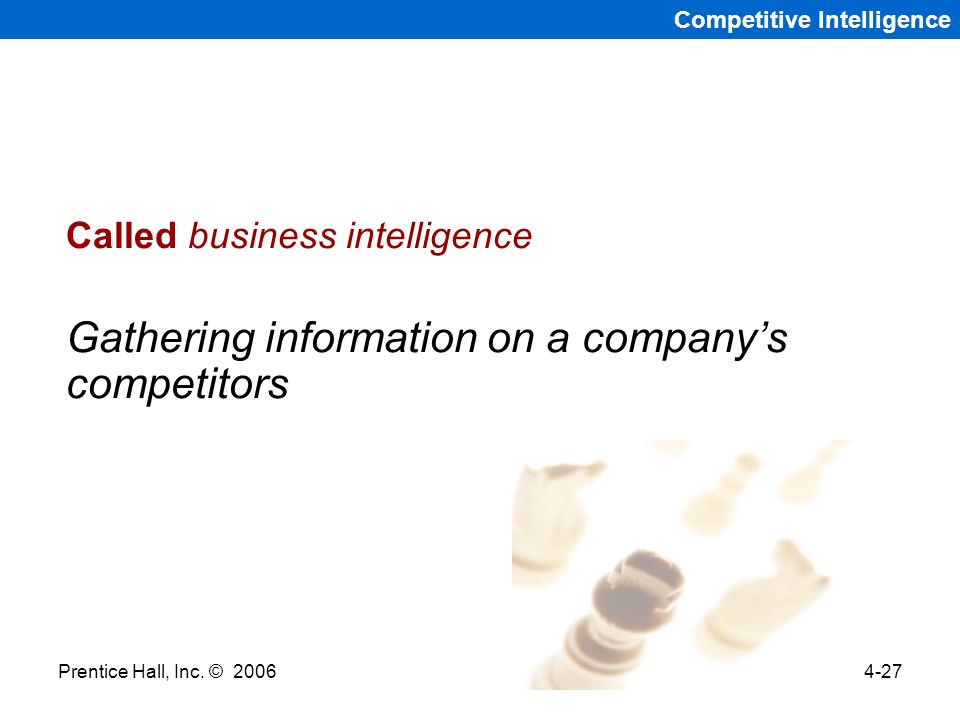 Gathering information on a company's competitors
