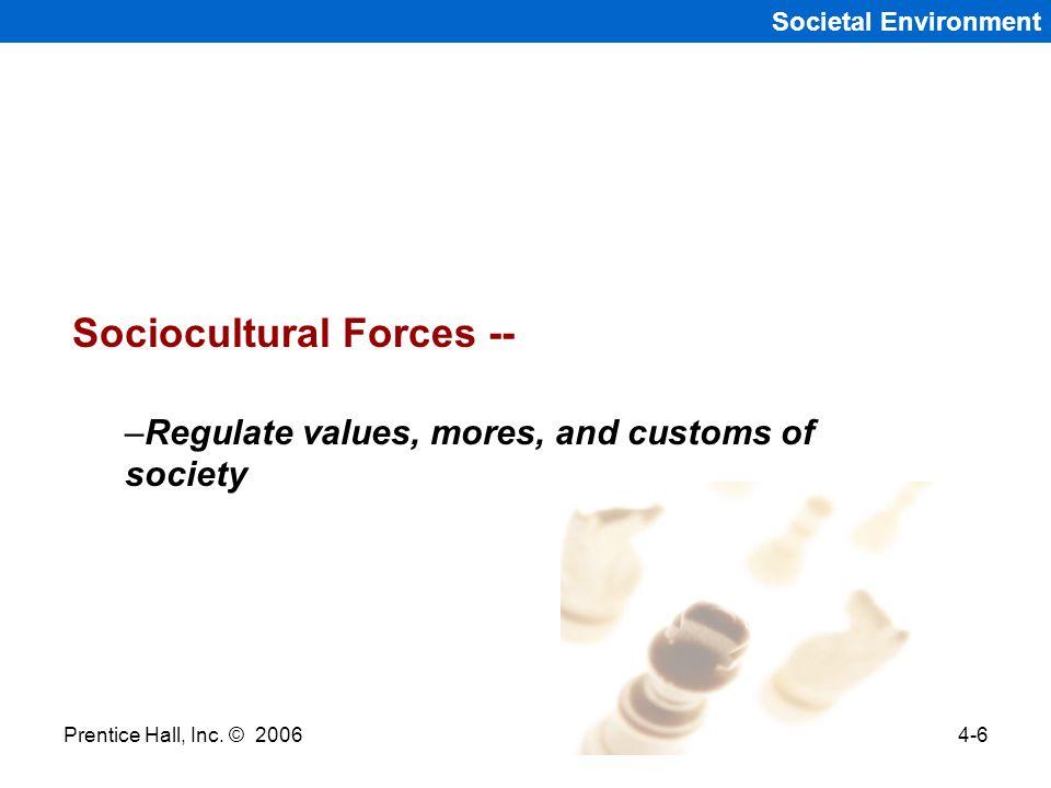 Sociocultural Forces --
