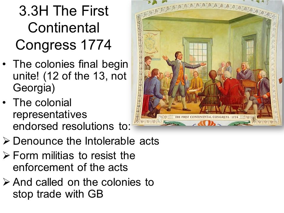 3.3H The First Continental Congress 1774