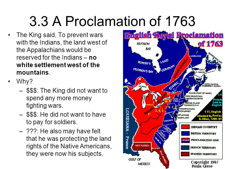 3.3 A Proclamation of 1763