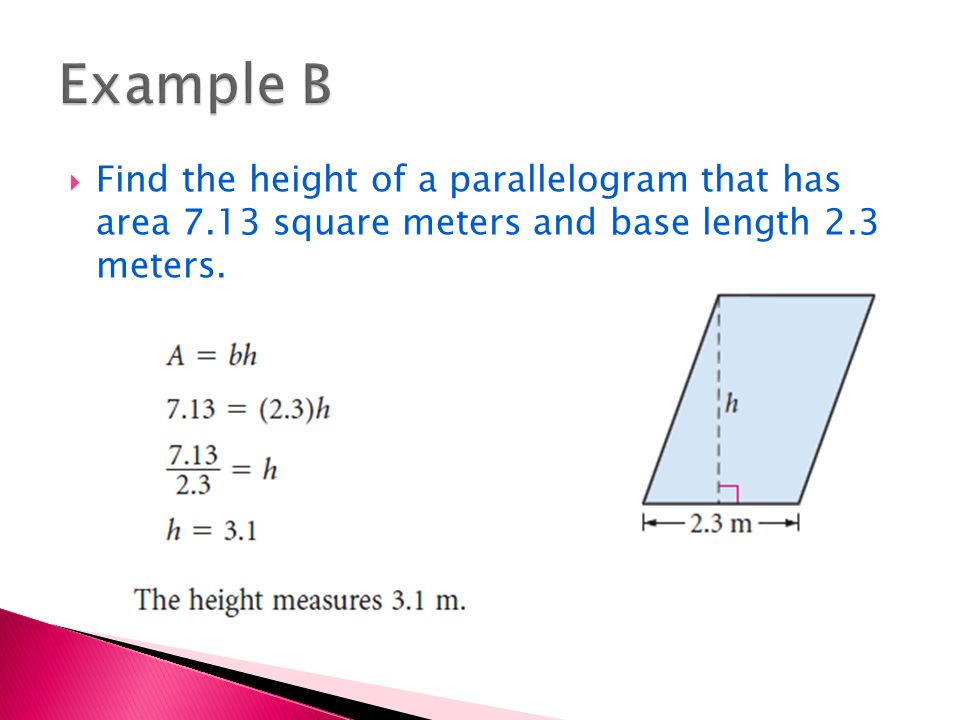 Areas Of Rectangles And Parallelograms Ppt Video Online