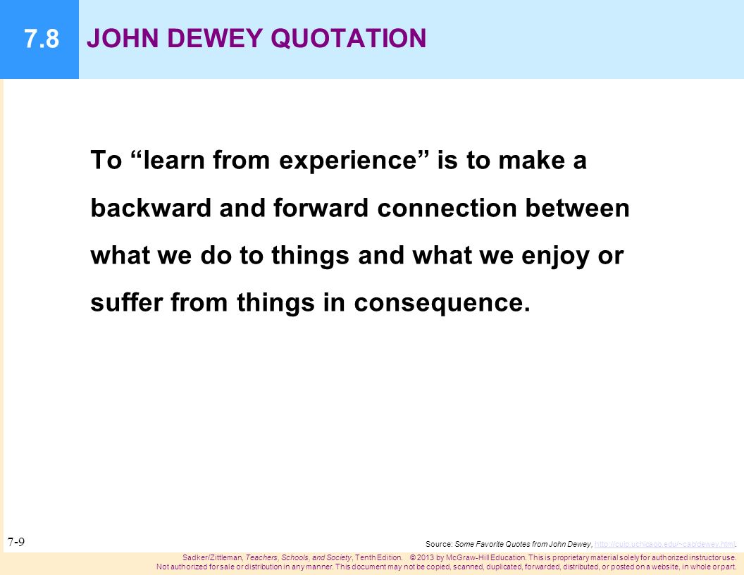 john dewey experience education essay Dewey-naturalizing education john dewey was more dewey's experimental view of knowledge and values is described in his essay how we think and dewey, john.