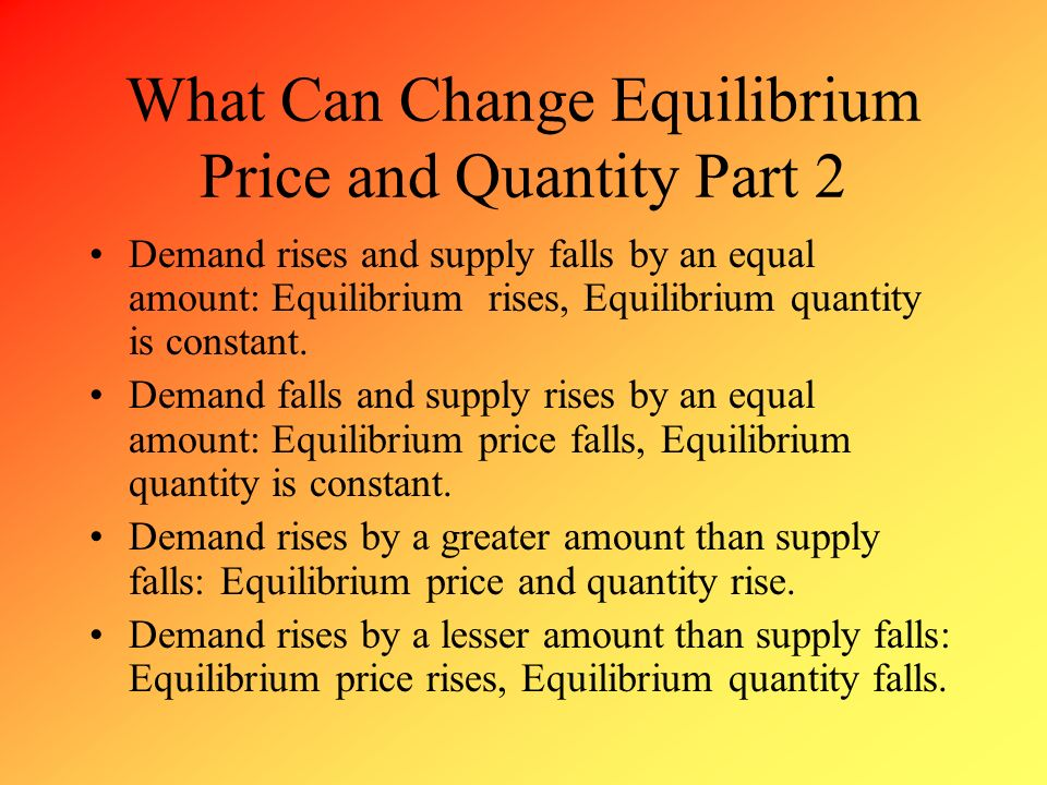 What Can Change Equilibrium Price and Quantity Part 2