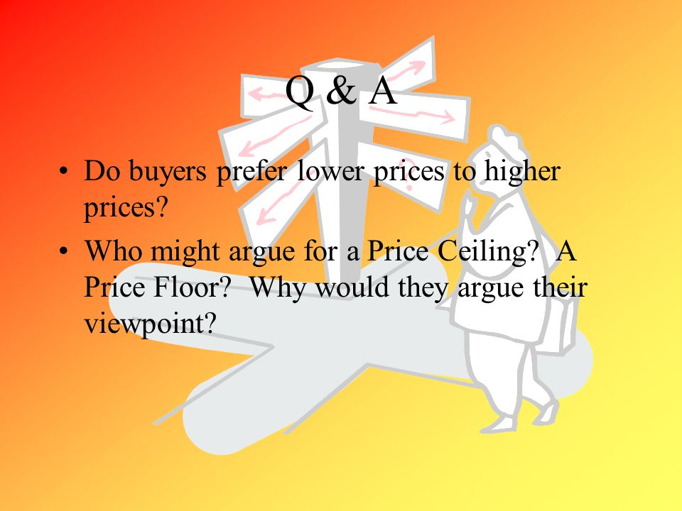 Q & A Do buyers prefer lower prices to higher prices