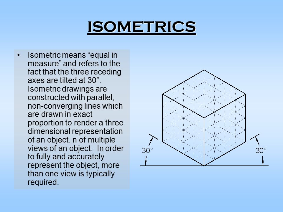 """Drawing Lines What Does It Mean : Isometrics isometric means """"equal in measure and refers"""