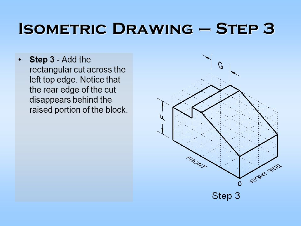 how to draw a isometric drawing step by step