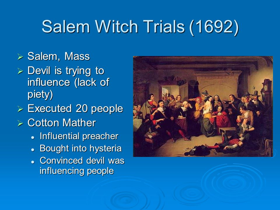 The salem witch trials and mass hysteria Essay Sample