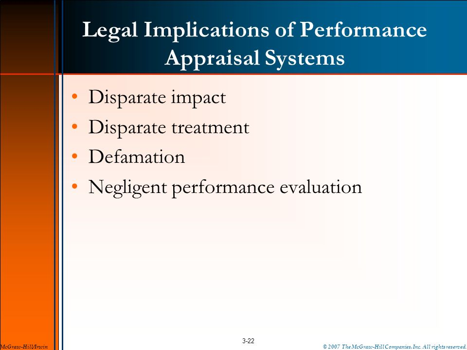 Legal Implications of Performance Appraisal Systems