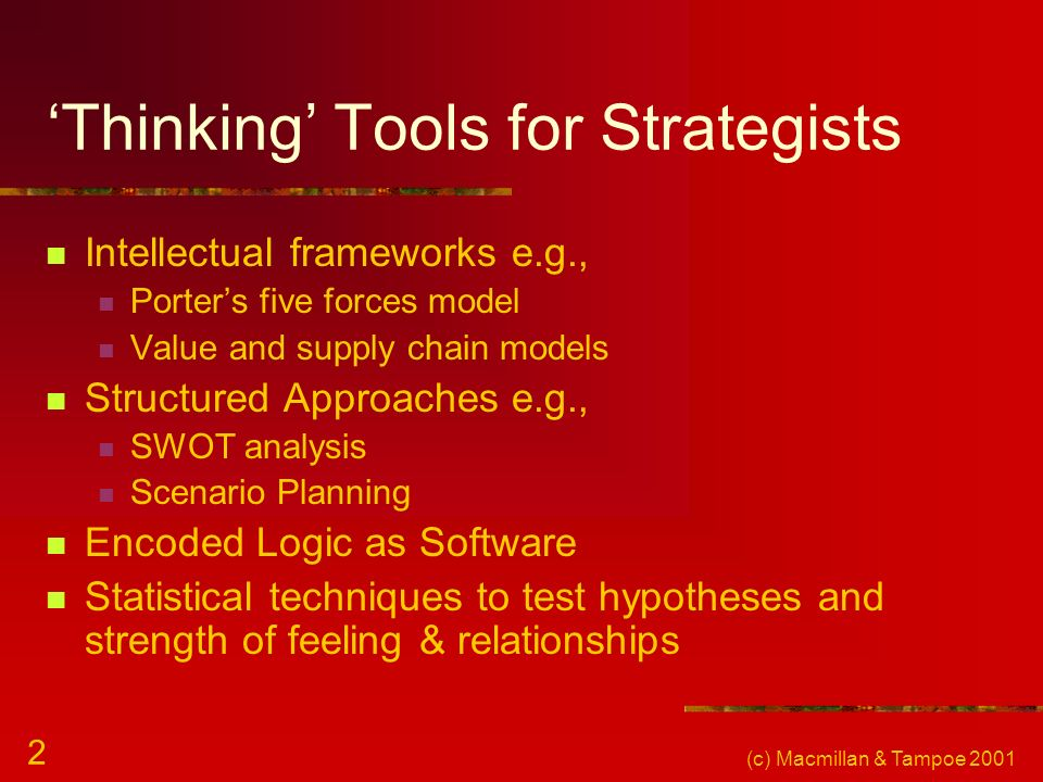 'Thinking' Tools for Strategists