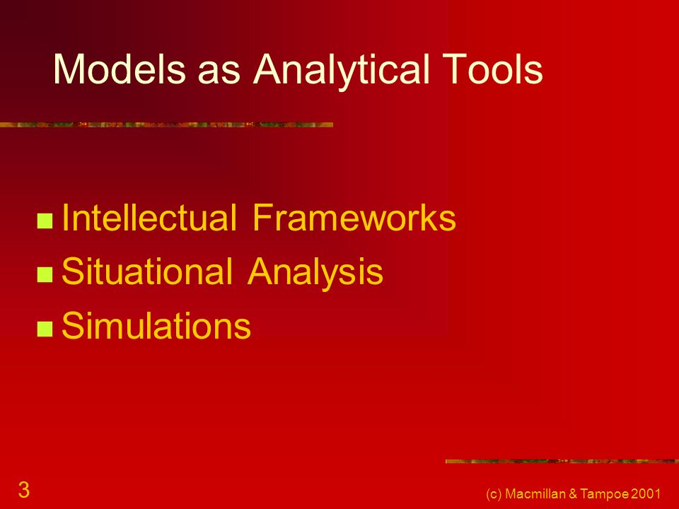 Models as Analytical Tools
