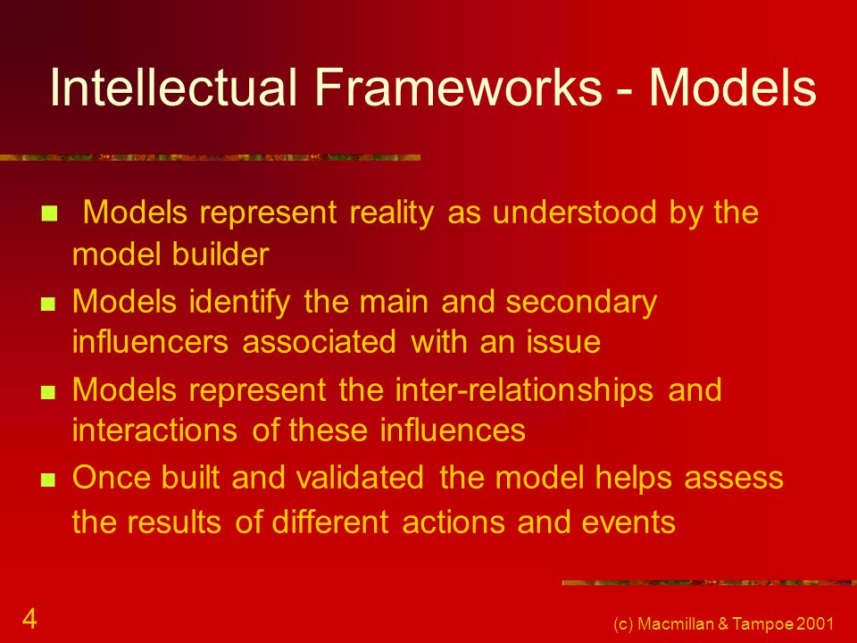 Intellectual Frameworks - Models