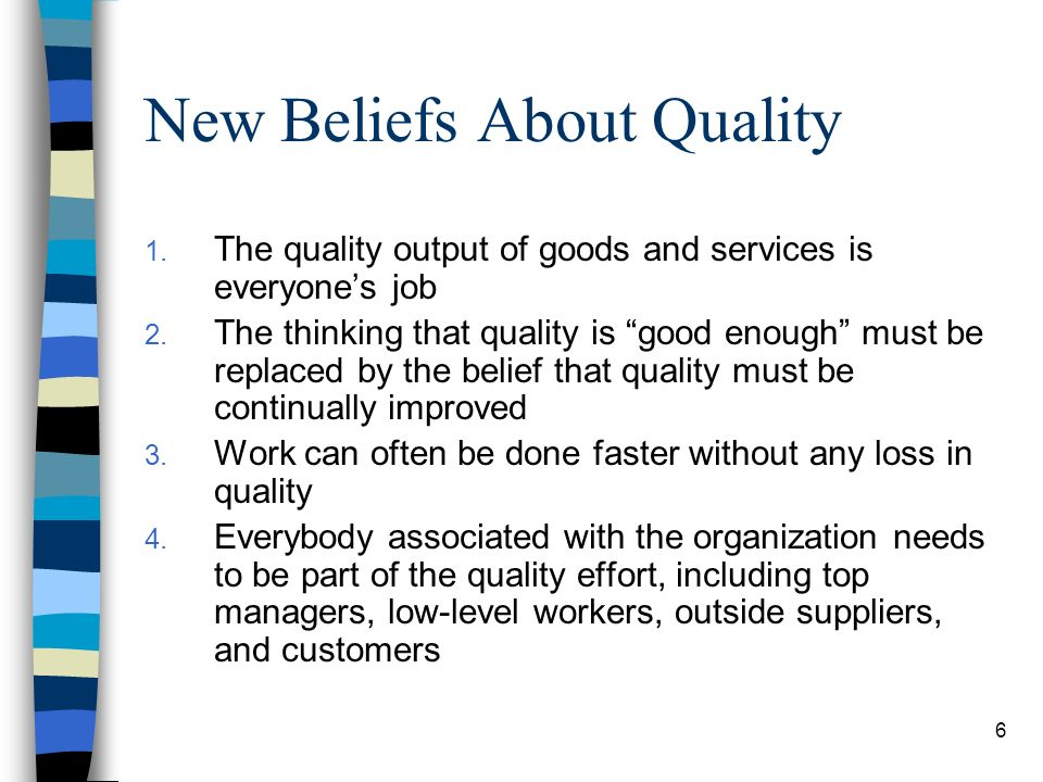 New Beliefs About Quality