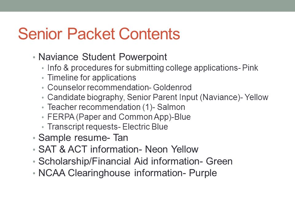 Class Of  Senior Pathways Night  Ppt Download