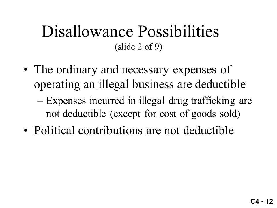 Disallowance Possibilities (slide 2 of 9)