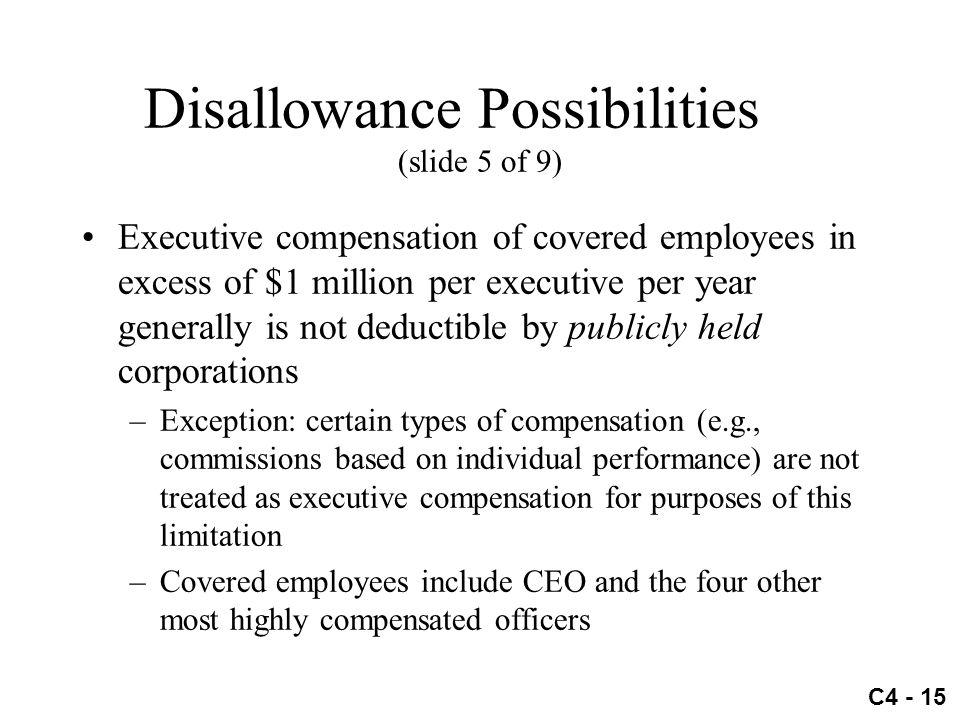 Disallowance Possibilities (slide 5 of 9)