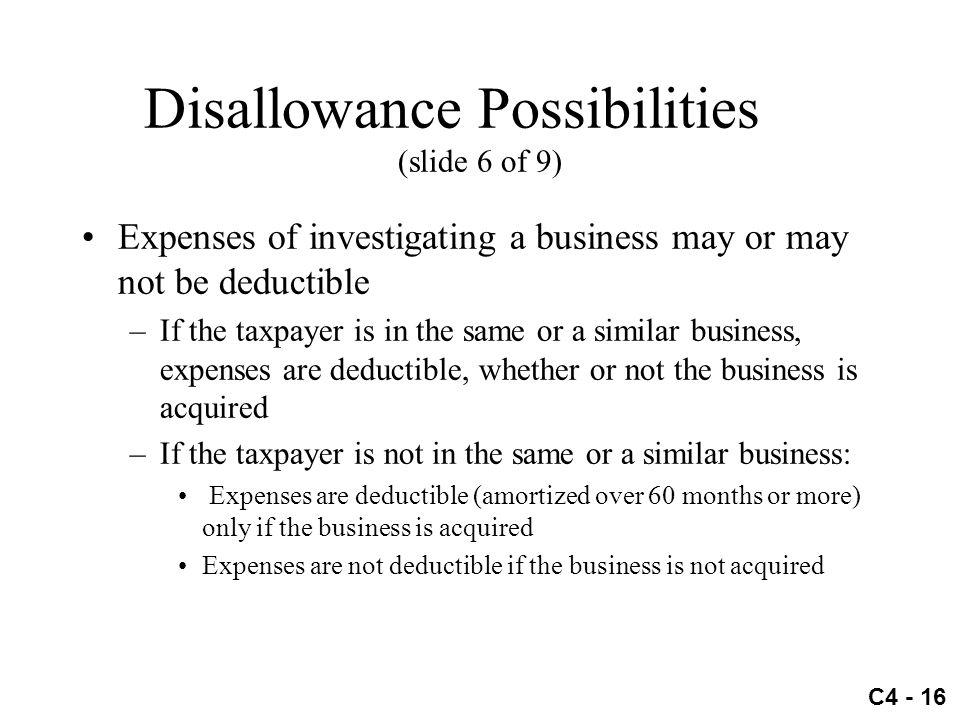 Disallowance Possibilities (slide 6 of 9)