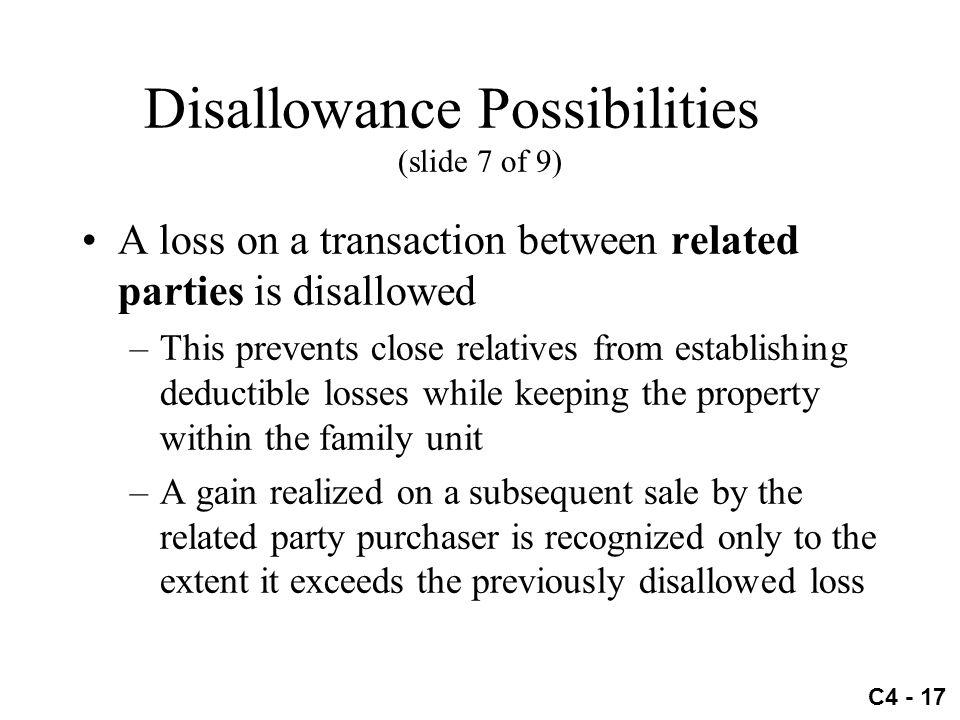 Disallowance Possibilities (slide 7 of 9)