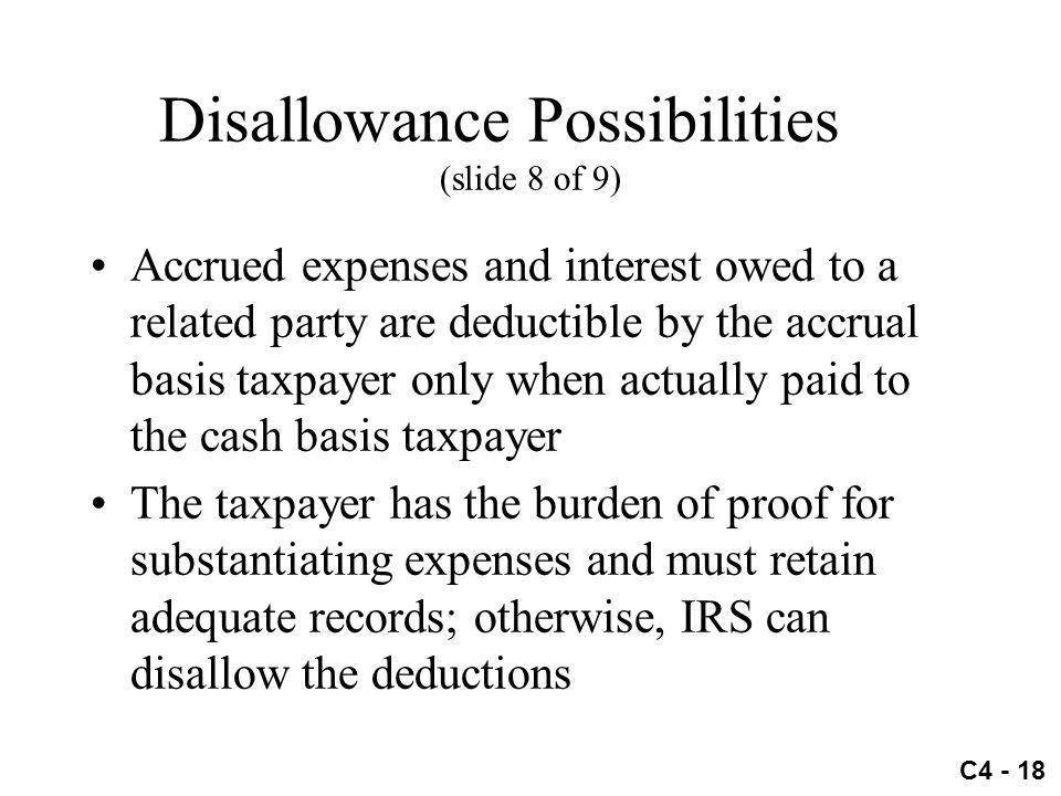 Disallowance Possibilities (slide 8 of 9)
