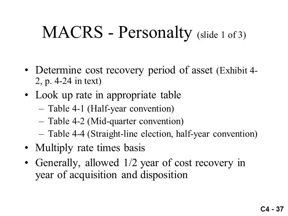 MACRS - Personalty (slide 1 of 3)
