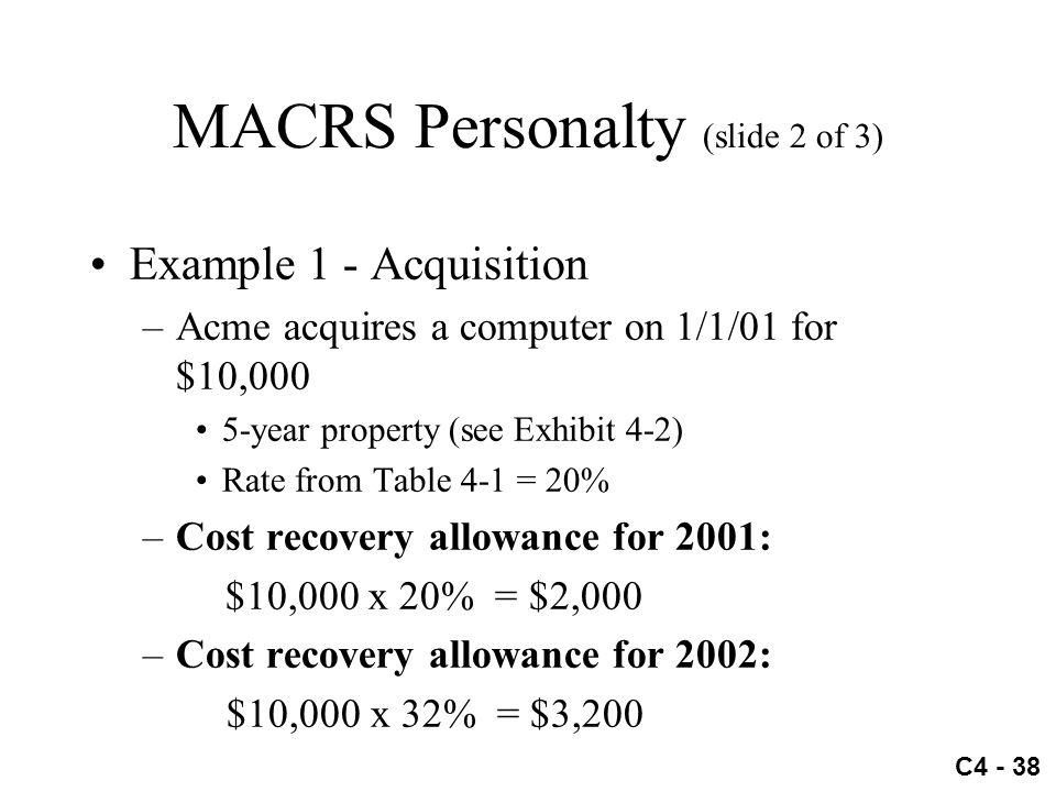 MACRS Personalty (slide 2 of 3)