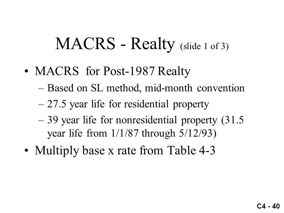 MACRS - Realty (slide 1 of 3)