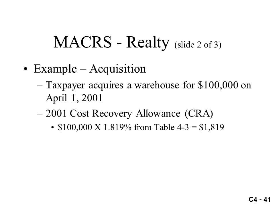 MACRS - Realty (slide 2 of 3)