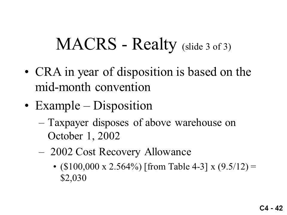 MACRS - Realty (slide 3 of 3)