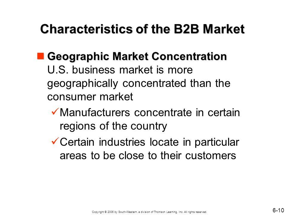 Characteristics of the B2B Market