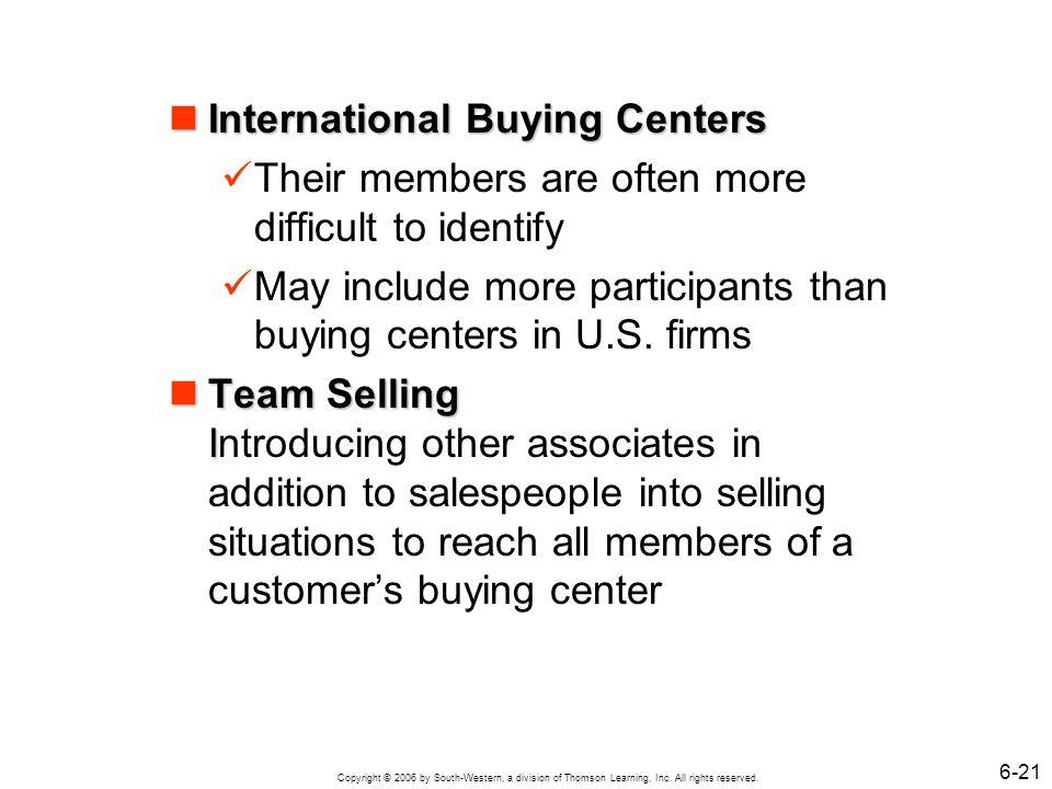 International Buying Centers