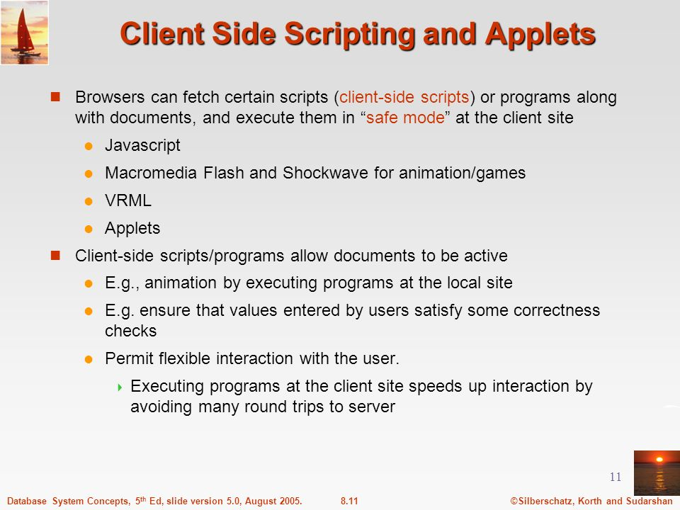 Client Side Scripting and Applets