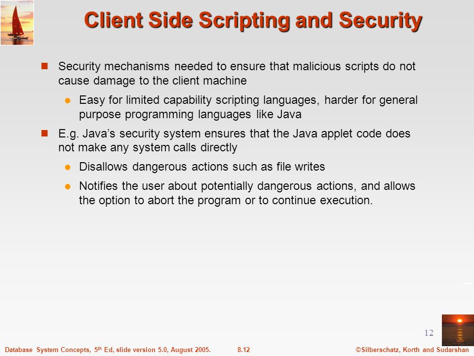 Client Side Scripting and Security